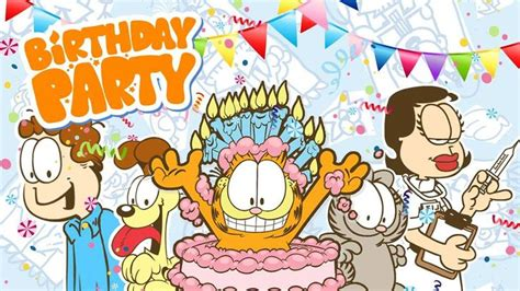 garfields birthday garfield garfield birthday birthday garfield pictures