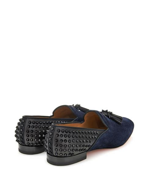 studded loafers christian louboutin tassilo studded loafers in blue for