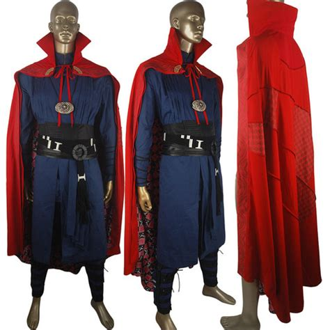 marvel  doctor strange cosplay costume deluxe halloween costume cape robe boots waistband