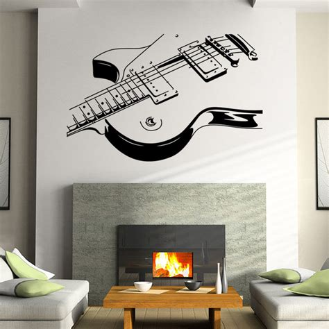 music decals for bedroom aliexpress com buy dsu art guitar wall stickers diy home decorations music wall