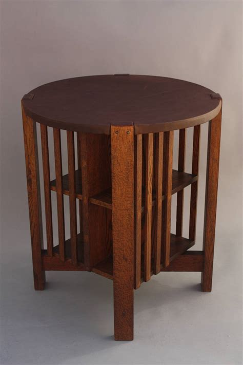 arts and crafts table with revolving bookcase at 1stdibs