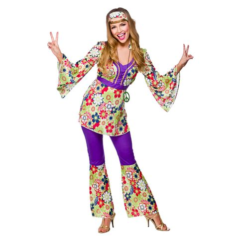 Wardrobe Fancy Dress by Womens Hippie Hippy Fancy Dress Costume 60s 70s
