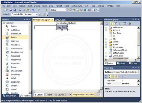 tutorial visual studio 2010 asp net asp net visual studio 2010 event handles