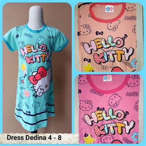 Usia 2 4 Thn Gamis Kaos Katun Jepang Labella sentra grosir dress dedina 4 8 anak karakter murah 18ribu