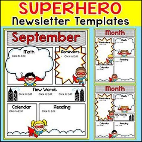 newsletter templates for books newsletter template superhero theme newsletter templates