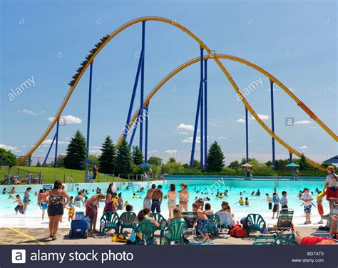 theme park canada people at a water park at canada s wonderland amusement