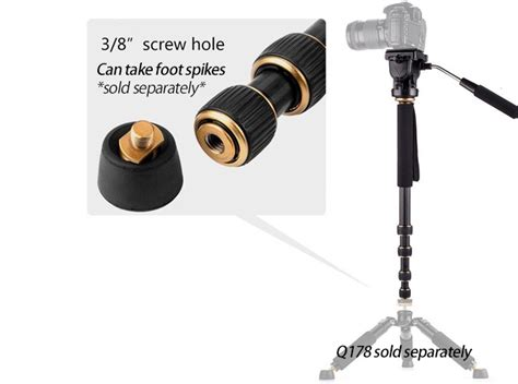Beike Q188 Monopod by Beike Q188 Aluminm Alloy Monopod 5 Sections Pan Tilt