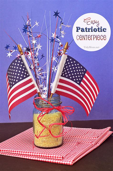 4th of july table centerpieces 15 patriotic centerpieces my style