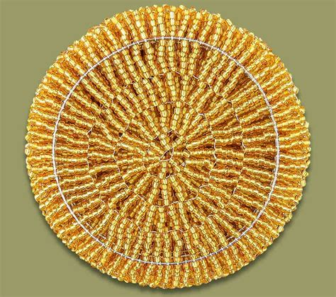 beaded coasters beaded coaster set x 6 gold