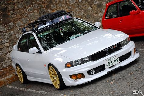 stanced mitsubishi galant dpmotors don t ask me how but someone pulled off this