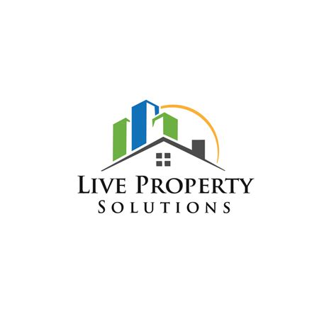modern bold logo design for live property solutions by