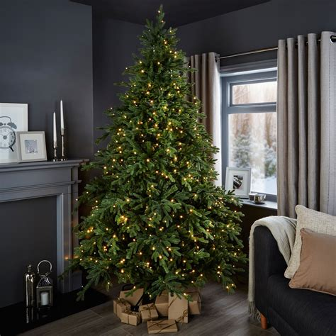 b and q artificial christmas trees 7ft 6in thetford pre lit tree departments diy at b q