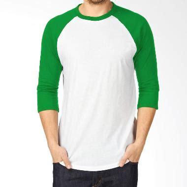 T Shirtkaos Android 3 jual kaosyes kaos polos t shirt raglan lengan 3 4 putih hijau harga kualitas terjamin