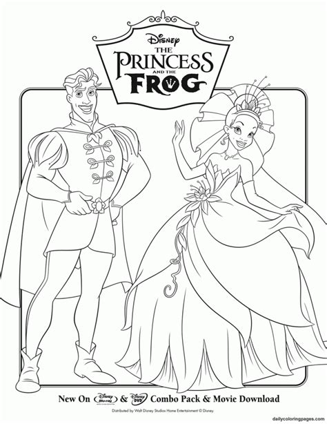 Princess Coloring Pages 1 Coloring Kids Princess And The Frog Pictures Printable