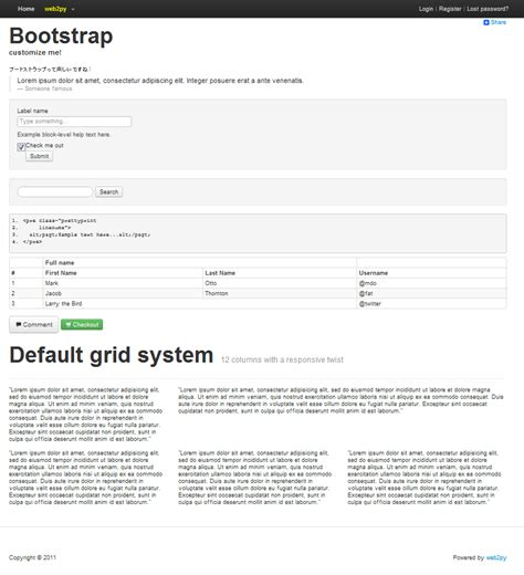 bootstrap layout doesn t work python roll 2012