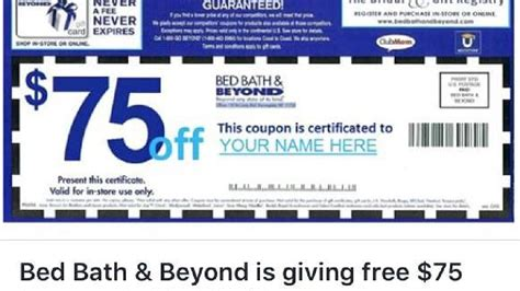 what is 1 75 bath bed bath beyond warns of bogus 75 off coupon wsyx