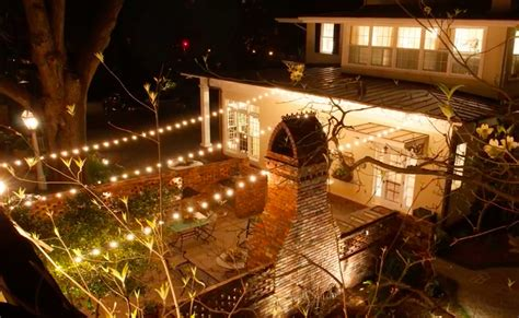 Commercial Outdoor String Lights With Backyard Ideas How To String Lights In Backyard