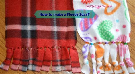 How To Make Handmade Scarves - how to make a fleece scarf
