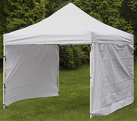 Portable Canopy With Sides White Portable Canopy 10 Foot Wide Pop Up Design