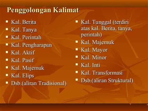 Sistaksis Bahasa Indonesia sintaksis bahasa indonesia