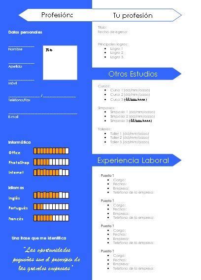 Plantillas De Curriculum Vitae Word 2007 Gratis plantilla gratuita para cv azul curriculumsvitae net