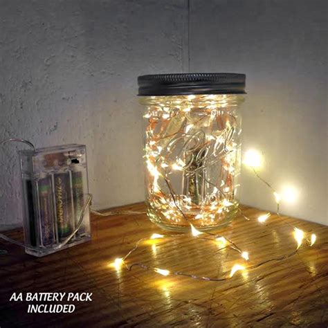 lights copper wire 18 led copper wire string light with built in timers