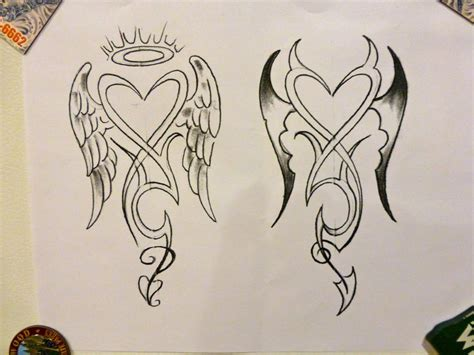 tattoo angel and devil designs angel devil tattoo concept 1 by mark dicarlo my