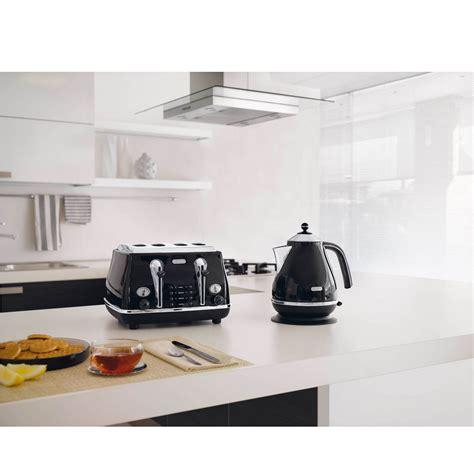 Black Retro Toaster Delonghi Icona Retro 4 Slice Toaster Black Cto4003bk Uk