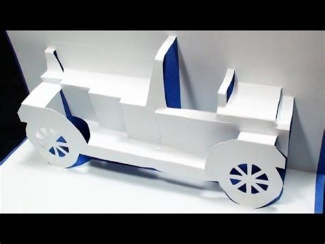 3d pop up card templates how to make a classical car pop up card free template