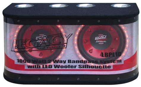 Speaker Subwoofer Legacy 10 Inchi legacy car audio lbpl10 dual 10 1000 watt bandpass subwoofer system w led light accents lbpl10