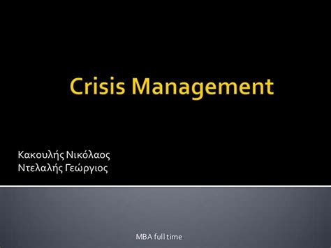 Mba In Self Management And Crisis Management by Communication Crisis Management Bp Study