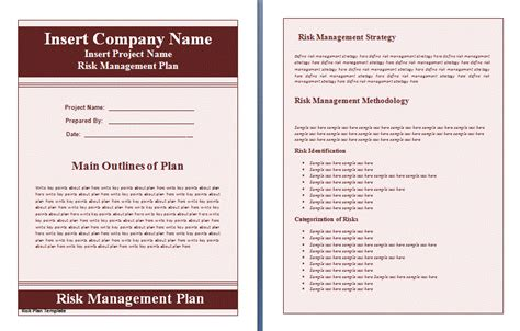 business management plan template plan templates free word s templates