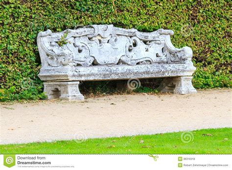 ornamental garden bench ornamental english garden with stone bench royalty free