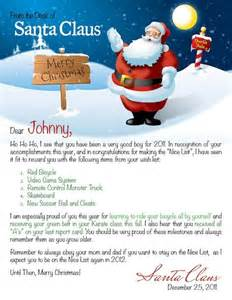 Santa Claus Letter Template by Personalized Letter From Santa Search On A
