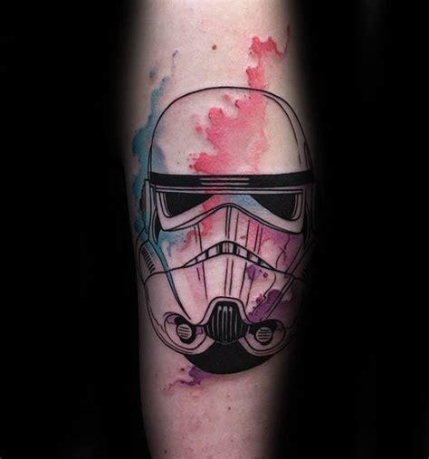 watercolor tattoo with black outline 100 stormtrooper designs for wars ink ideas