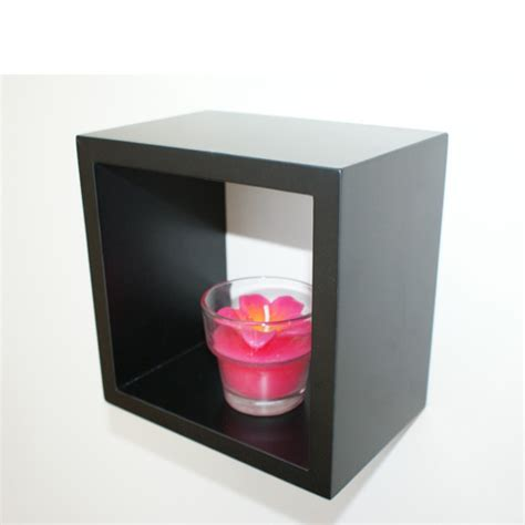 black wall cube shelf 15x15x10cm mastershelf