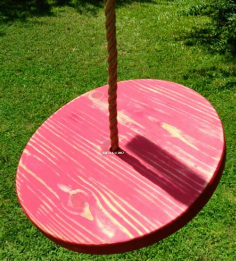 disc swing for tree distressed disc wooden swings