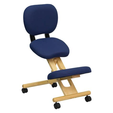 Kneeling Desk Chair by Flash Furniture Wooden Ergonomic Kneeling Posture Office