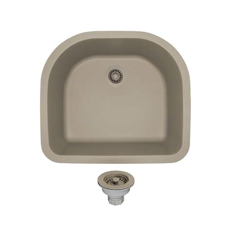 Slate Kitchen Sink Mr Direct All In One Undermount Composite 25 In Single Basin Kitchen Sink In Slate 824 St Cst