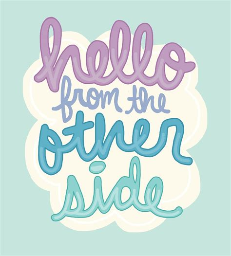 Girly Wall Stickers quot hello from the other side lyric inspiration girly tumblr