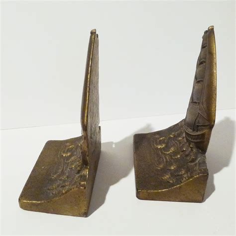Bradley Hubbard L by Bradley Hubbard Deco Ship Bookends From Rubylane Sold