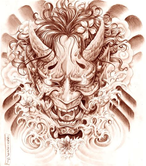 hannya mask tattoo design hannya mask by gorgoncult on deviantart