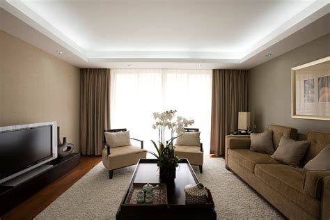 Living Room Ceiling Light Drop Ceiling Lighting Living Room Contemporary With Drapes