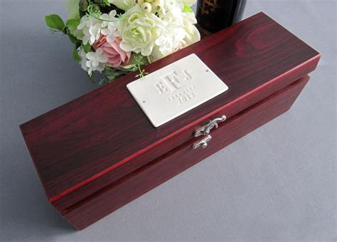 Wedding Gift Wine Box by Personalized Wedding Gift Wine Box With Tools