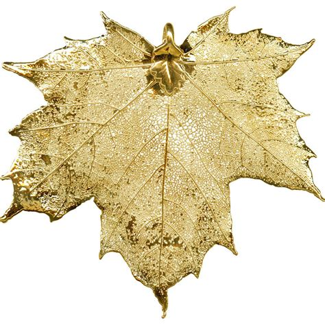 gold plated pendant plated leaf sugar maple