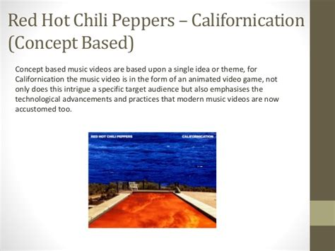 theme song californication performance concept narrative based music videos