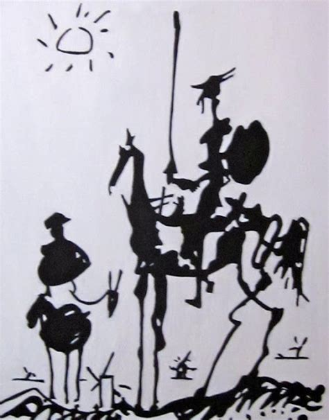 picasso paintings don quixote a mile away