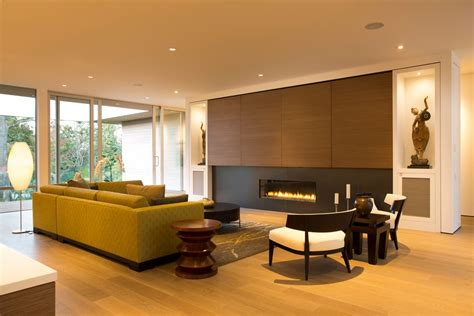 modern wood wall panels living room vancouver wood wall panels living room modern with built in cabinets dimmable recessed lighting