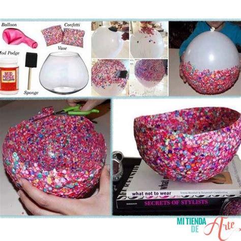pintrest home diy jarr 243 n hecho a mano con globo y confetti bricolage ideas and diy and crafts