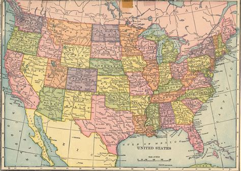 united states an old fashioned map of the united states i m using it